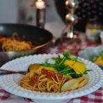 Ikväll äter vi Spaghetti alla Puttanesca till middag